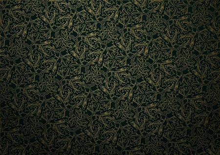 gold: Gold seamless pattern.Vintage background.