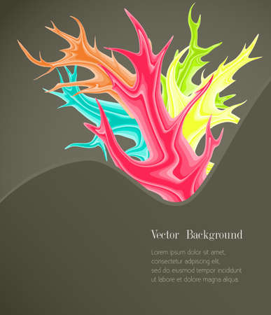 Abstract background with colored spots. Vector illustration. Illustration