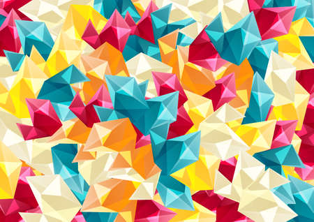 Abstract colorful background with geometric shapes.Vector illustration.