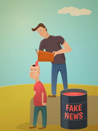 Fake news concept.Metaphor about contemporary media. Stok Fotoğraf - 83034158