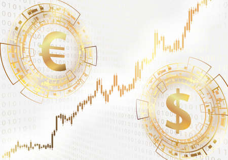 Euro and dollar symbols.Modern trade concept.
