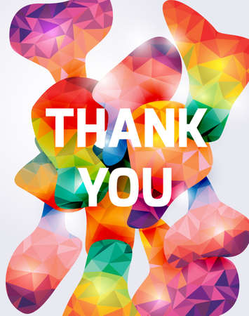 Colorful Thank you banner.Abstract vector illustration.