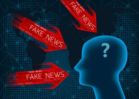 Fake news concept.Metaphor about contemporary media.
