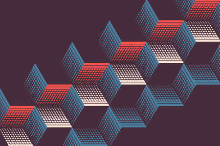 Abstract vintage background with geometric shapes.Vector illustration. Ilustração Vetorial