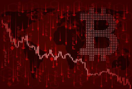 Bitcoin price crash.Bear market in cryptocurrencies.
