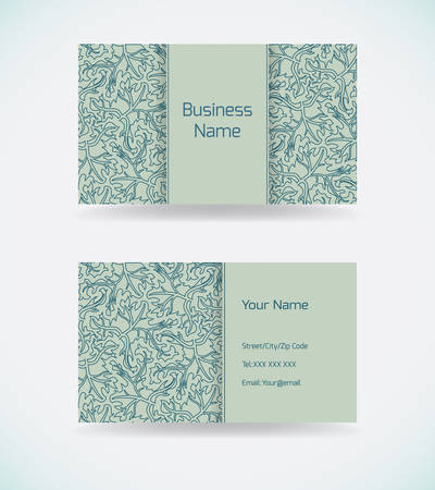 Business card template with abstract pattern.Vector illustration. Archivio Fotografico - 127369178