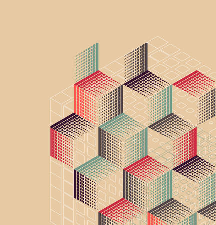 Abstract vintage background with geometric shapes.Vector illustration.