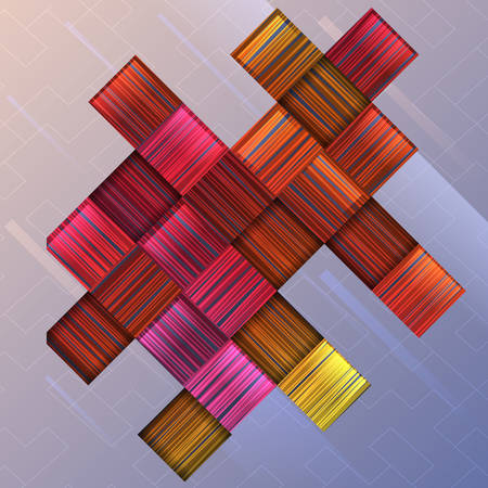 Abstract background with colorful squares.Vector illustration.