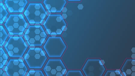 Abstract futuristic background with hexagons.Vector illustration.