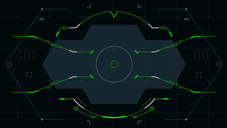 Futuristic viewfinder for the hud interface.Vector illustration. Illusztráció