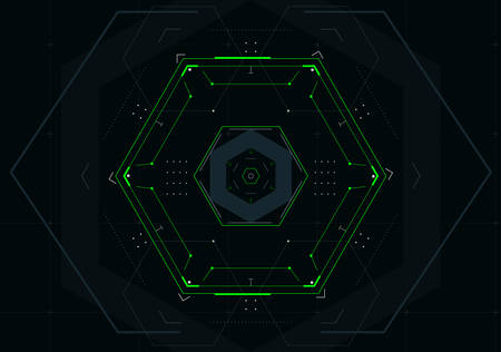 Abstract technology background with futuristic hexagon.Vector illustration.