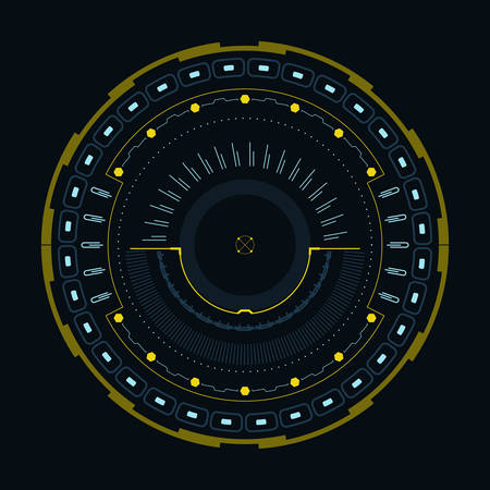 Round indicator for a modern interface.Vector illustration. Иллюстрация