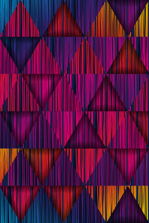 Colorful pattern with striped triangles.Abstract vector background.