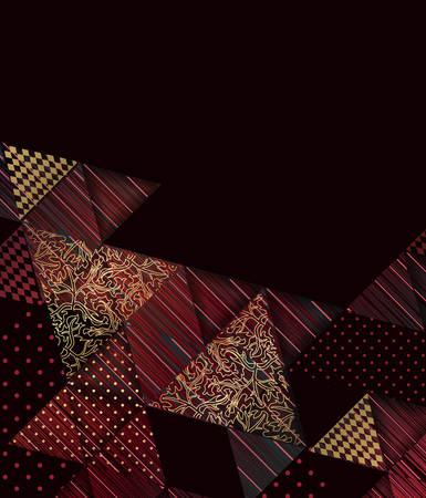 Elegant dark background with a geometric composition.Vector illustration.