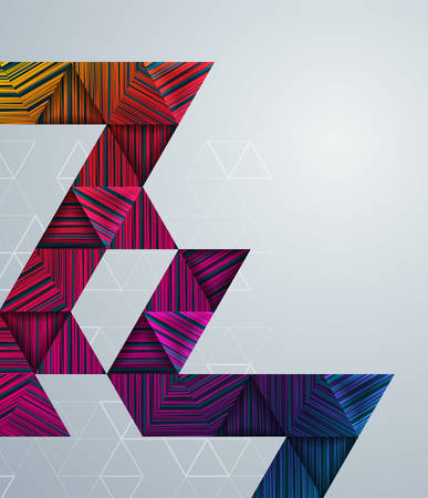 Background with colorful geometric pattern and copy space.Vector illustration.