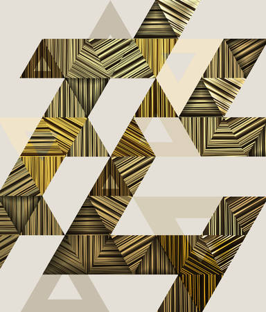 Abstract composition with brown triangles.Vector illustration. Иллюстрация