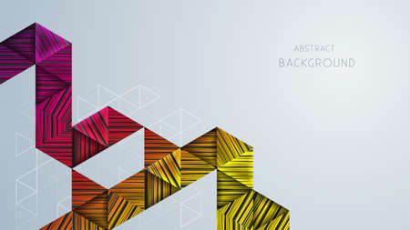 Bright abstract background with geometric shapes and copy space.Vector illustration.