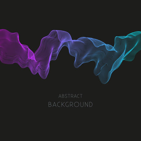 Abstract background with colorful wave.Dark vector background.
