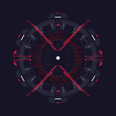 Circular element to the HUD interface.Vector template.