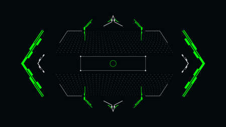 Futuristic crosshair for the hud interface.Digital user interface screen.Vector illustration.