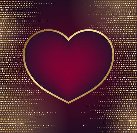 Valentine's background with heart symbol and place for text.Vector illustration.