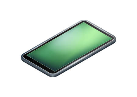 Isometric smartphone on a white