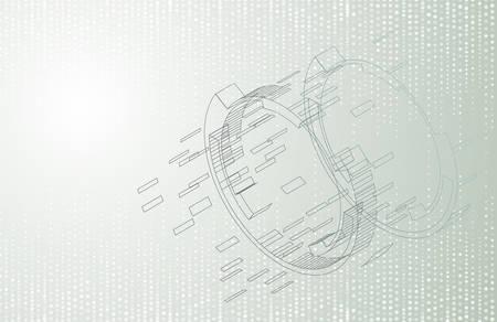 Bright background with elements of technical drawing.Vector illustration. Illusztráció
