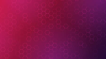 Modern geometric background with trendy gradient.Vector pattern of hexagons.