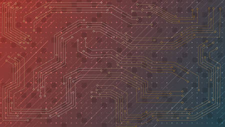 Technology background with circuit board.Abstract vector illustration.