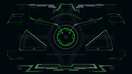 Futuristic sight for the hud interface.Virtual Reality View Display.