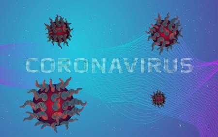 Coronavirus illustration on abstract background.Vector illustration.