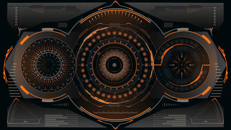 Futuristic control panel with abstract indicators.Vector illustration.