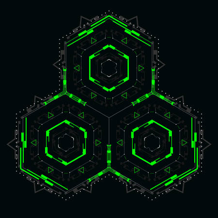An abstract element for futuristic design.Vector illustration for modern interface.