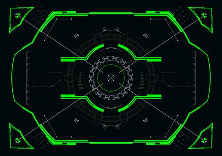 Futuristic crosshair concept for hud interface.Abstract Hi-Tech elements.Vector illustration. Illusztráció