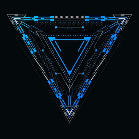 Triangular element for a futuristic design.Vector illustration.