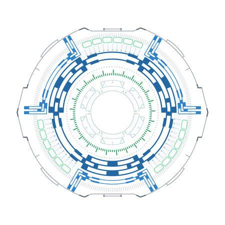 Futuristic round gauge for hud interface.Concept of modern indicator.Vector illustration.