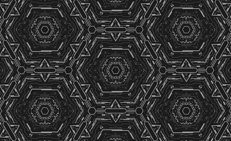 Futuristic pattern with geometric elements.Technology background. Vector illustration.