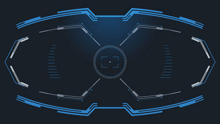 Futuristic HUD interface concept.GUI control panel design. Vector illustration.