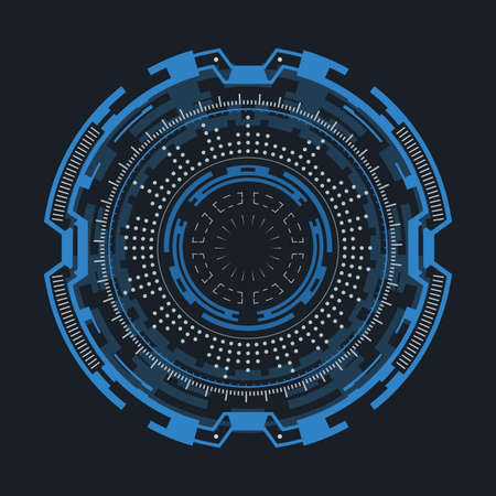 Futuristic round element for the hud interface.Concept of modern indicator.Vector illustration