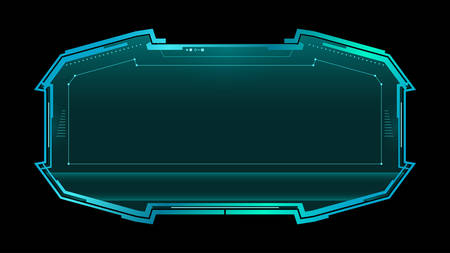 Futuristic display with copy space. Sci-fi concept design.Technology vector illustration.