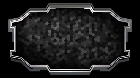 Futuristic frame with a pattern of hexagons.Vector illustration for a modern interface. Çizim