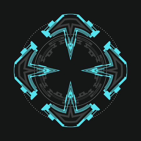 Futuristic round element for the hud interface.Abstract vector illustration.