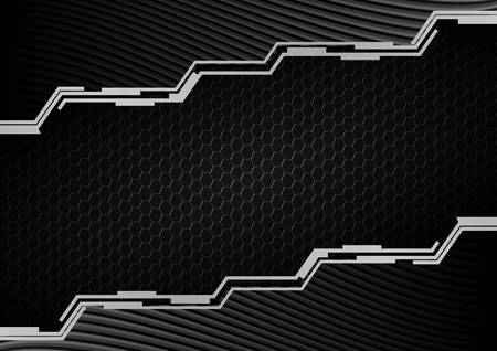 Dark futuristic background with metal mesh. Graphic design element. Vector illustration.