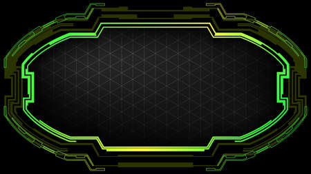 Dark technology background with futuristic frame.Futuristic banner template.Vector illustration for modern design.