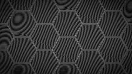 Dark background with abstract hexagon pattern.Futuristic design.Vector illustration. Çizim