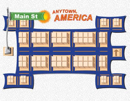 Anytown USA Illustration