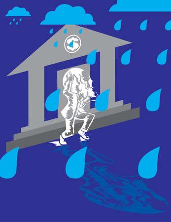 Working In The Rain Ilustracja