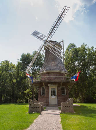 Dutch Wildmill in a remote Wisconsin Town highlighting their trasition with the sign  Klompenfest