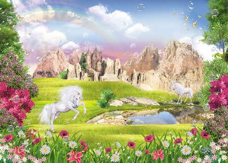 Unicorns by the lake
