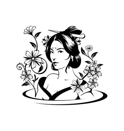 Asian Woman Art Vector